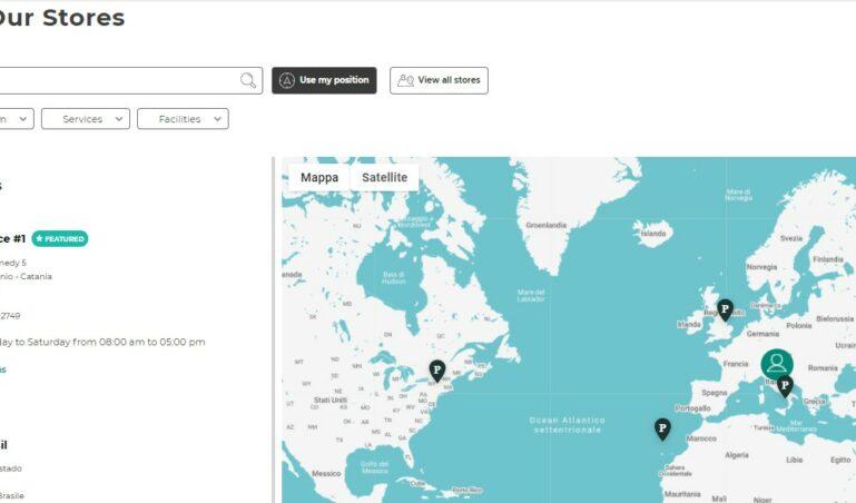 Store Locator Page