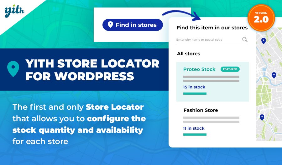 YITH Store Locator for WordPress: the first and only Store Locator that allows you to configure the stock quantity and availability for each store