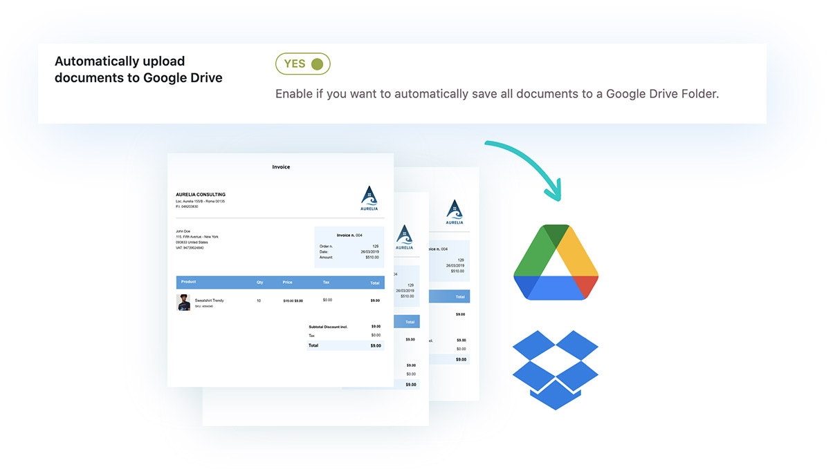 Automatically upload documents to Google Drive