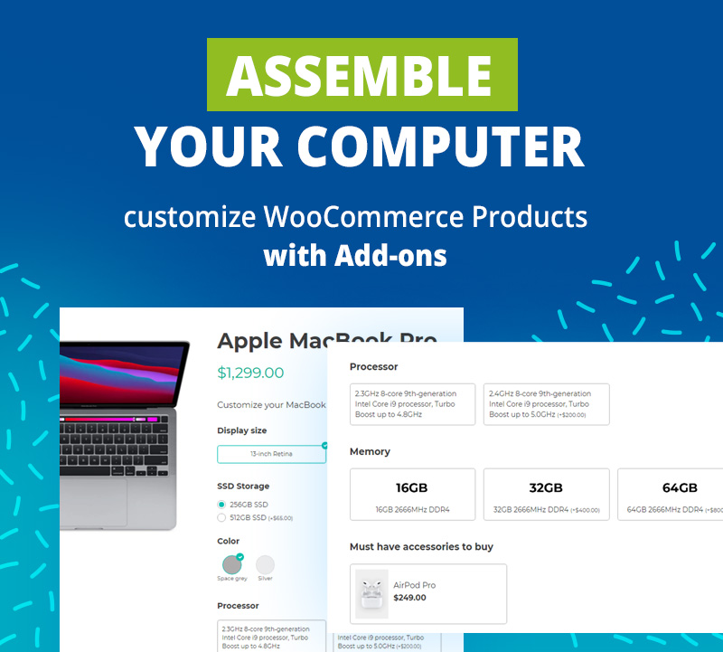 Assemble your computer: use case of Product Add-ons
