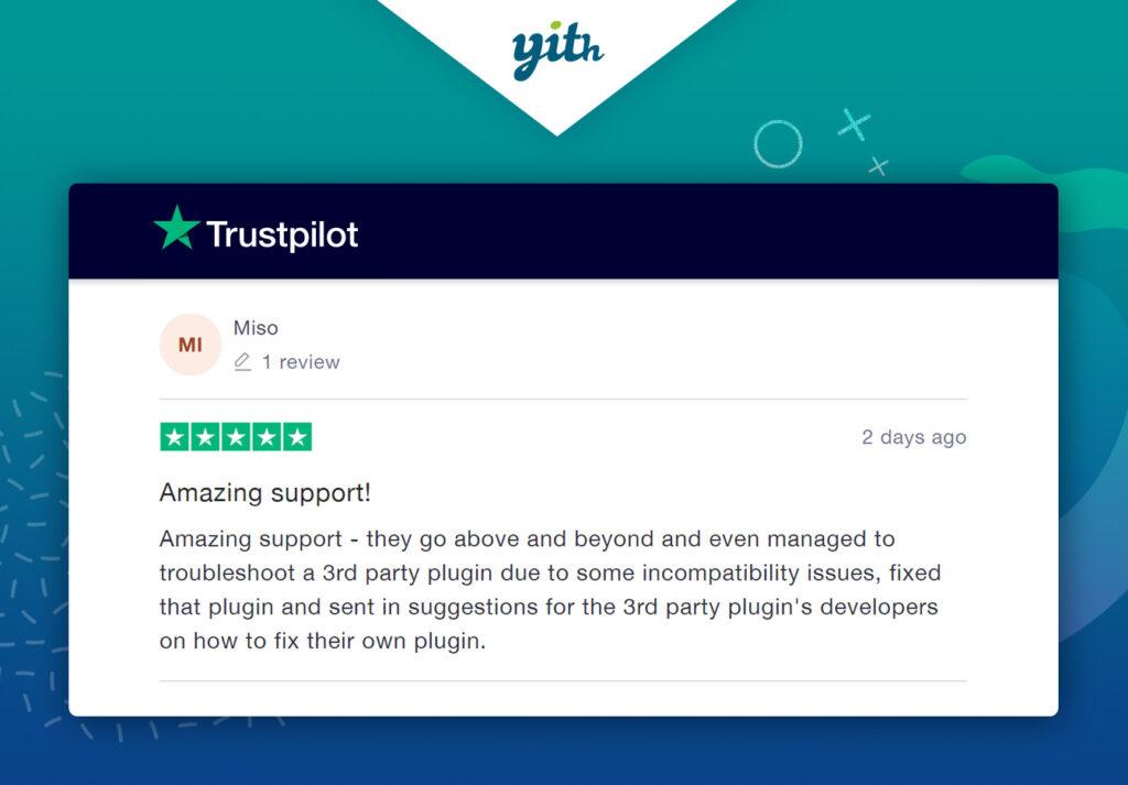 Comentario positivo en Trustpilot