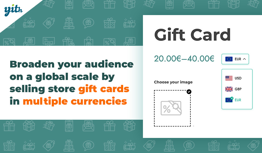 Broaden your audience on a global scale by selling store gift cards in multiple currencies