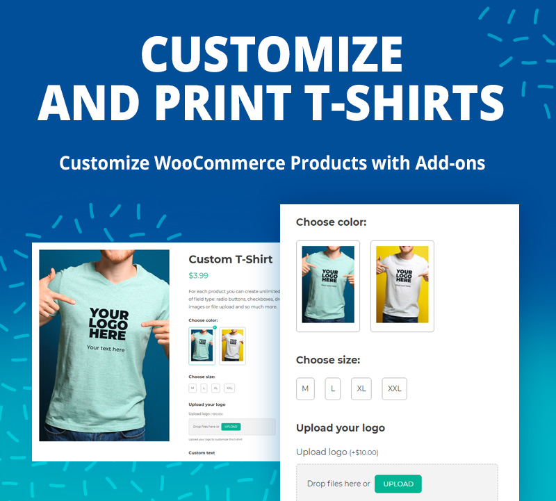 customize and print t-shirts